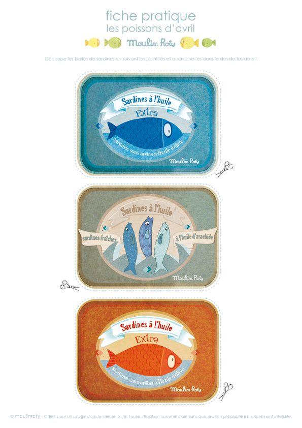 Cute FREE printable Boites de sardines