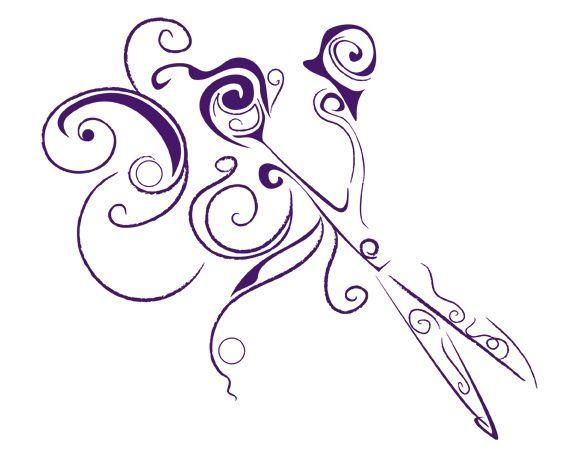 Hair Salon Logos and Clip Art | Hair Salon Scissors Clip Art