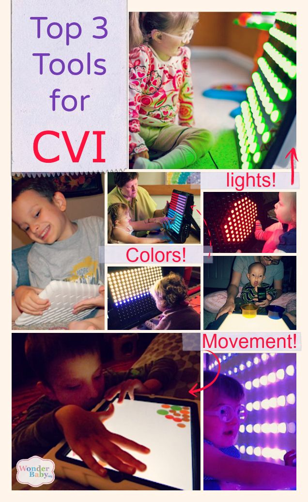 Kids with CVI love things with lots of lights, color and movement! These are the best educational tools for engaging children with CVI and encouraging development.
