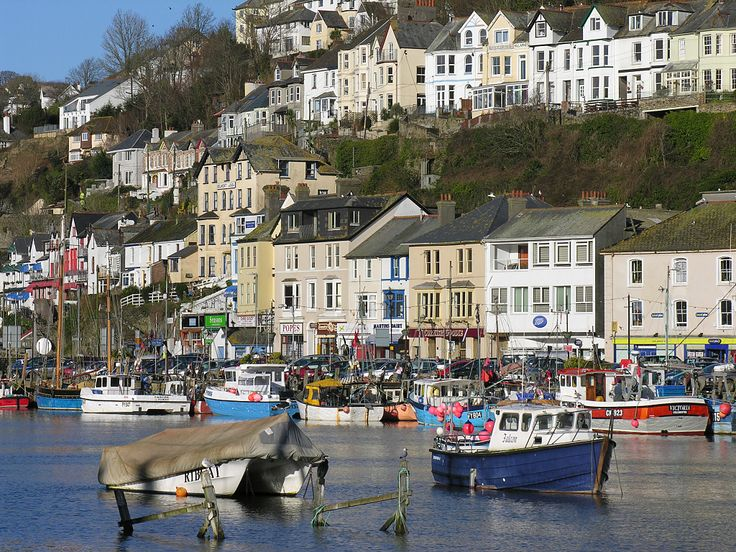 East Looe from West Looe, Cornwall, England