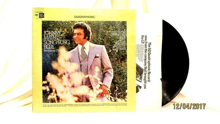 1972 Johnny Mathis Song Sung Blue Vinyl LP 33 Record Columbia CQ 31626 #TraditionalVocal