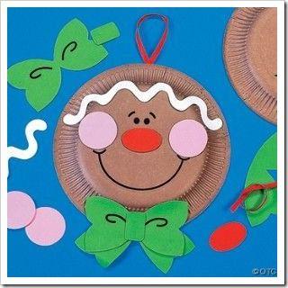 navidad para nios adornos hechos con platos de cartn divertidas de navidad