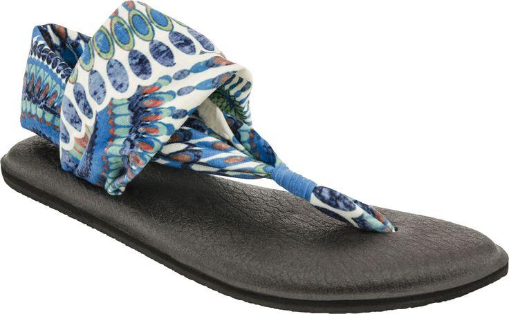 Sanuk Yoga Sling 2 Print Thong Sandal (Indigo Pinwheel)