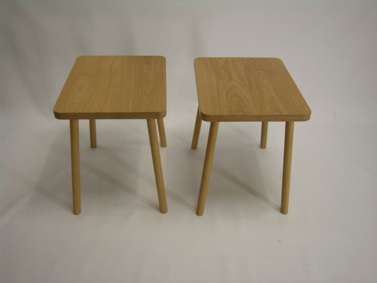 rectangular american oak side tables,handmade by chris colwell design