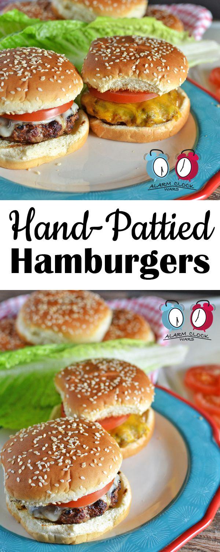 Hand-Pattied Hamburgers on Alarm Clock Wars. These Hand-Pattied Hamburgers are so easy to make, and taste so much better than store-bought hamburger patties!