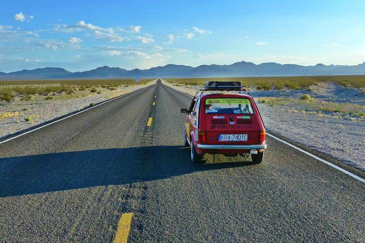 Maluchem dookoła USA część 18: Dolina Śmierci i ponownie Vegas fiat126p maluch