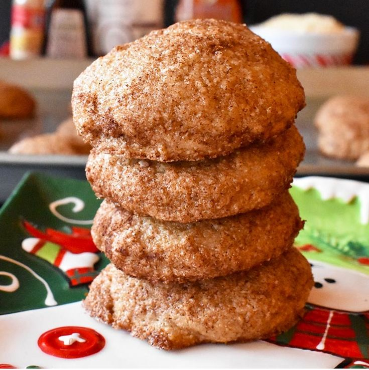 These maple snickerdoodles are a lighter version of the classic snickerdoodle cookie.