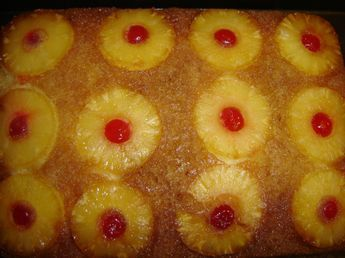 yummy pineapple upside down cake from scratch! No Cake Mix!