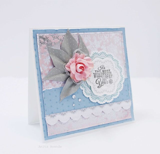 Anita Bownds: The Most Wonderful Time of The Year card | Silver Bells Quote BasedCards Kaisercraft