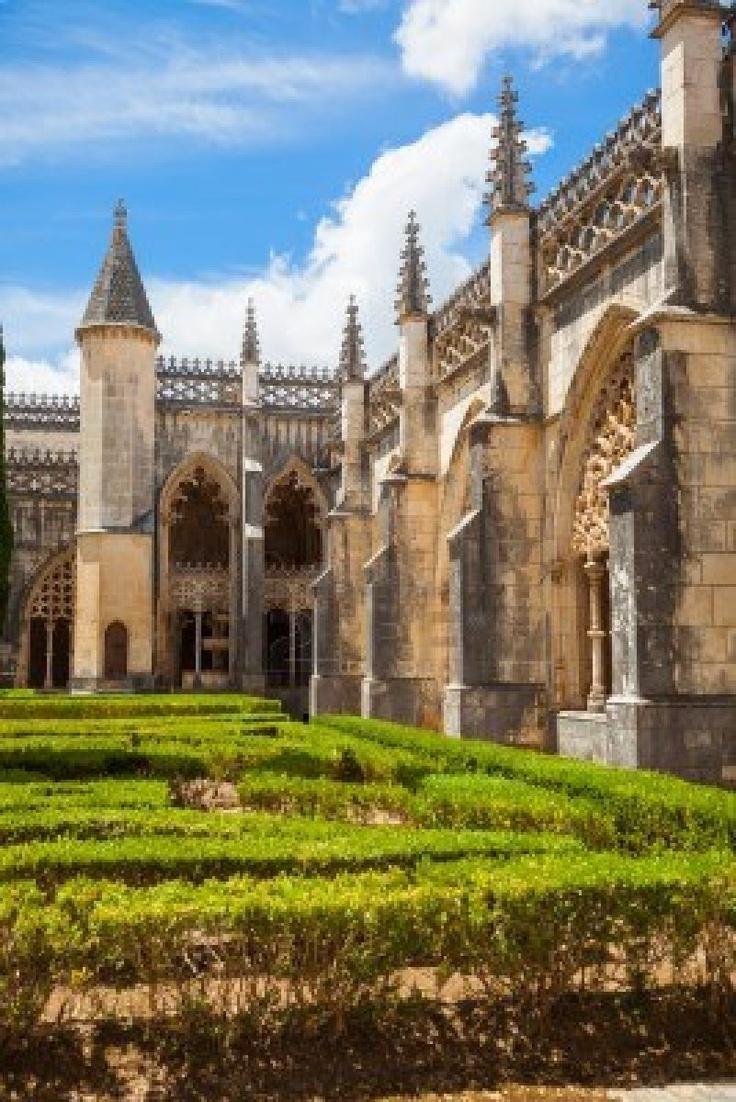 Royal claustro del monasterio de Batalha, Portugal patrimonio mundial de la UNESCO