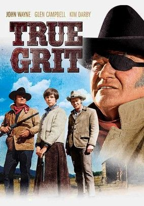 "True Grit (1969) John Wayne landed one of his last great screen roles as crusty lawman Reuben J. ""Rooster"" Cogburn, who reluctantly helps teenager Mattie Ross (Kim Darby) pursue her father's killer. True Grit is more a character study than many of Wayne's formulaic Westerns. The rousing final showdown between Wayne and the villains adds to the Duke's long list of outstanding movie moments."