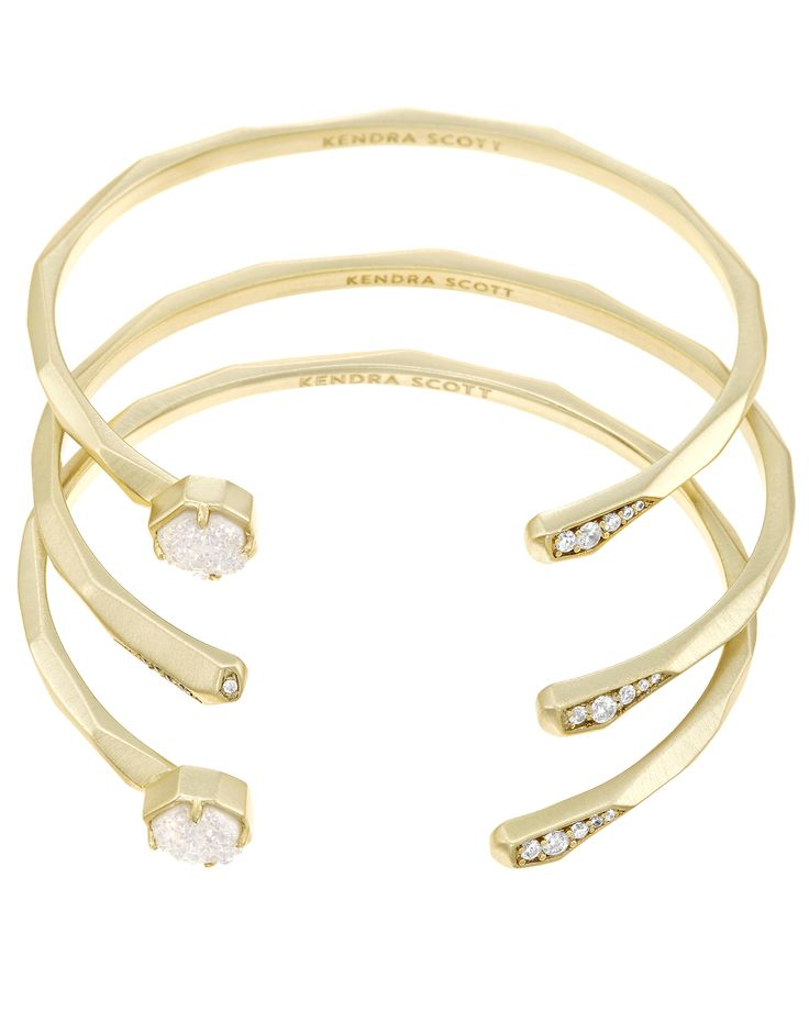 Blake Bangle Bracelet Set in Gold - Kendra Scott Jewelry.