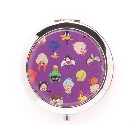 Hand mirror with Looney Tunes cartoons characters.