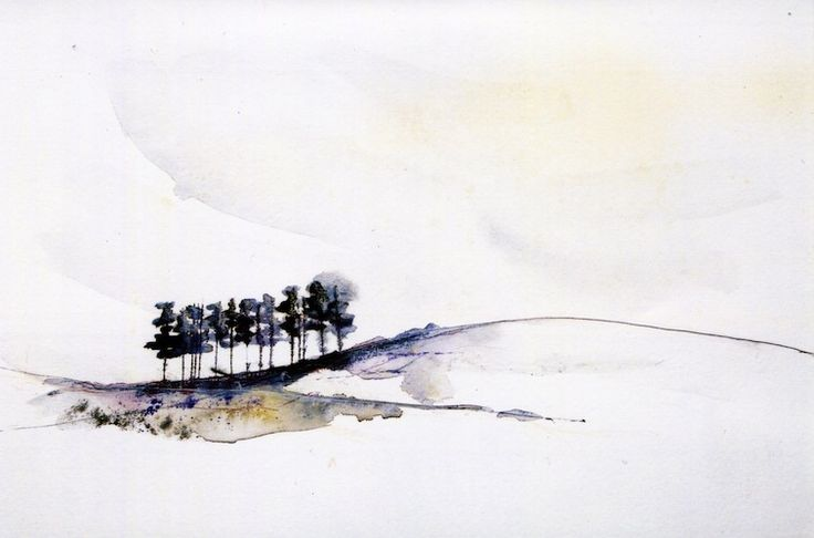 The portfolio of louisa boyd watercolour search and for Minimal art landscape