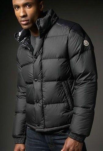 Mens Moncler Lacblanc Down Jacket Black [2900049] - £153.69 :