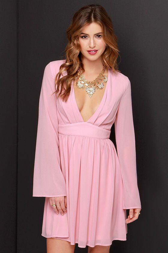 South embellished long sleeve dress