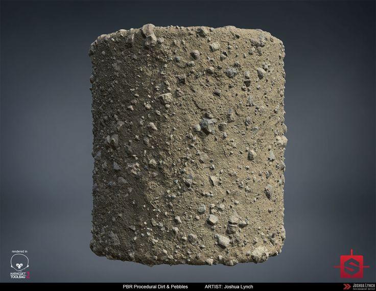 ArtStation - PBR Procedural Dirt & Pebbles Material Study, Joshua Lynch