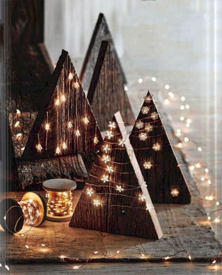 unglaublich  52 Creative DIY Rustic Christmas Decorations with Wood