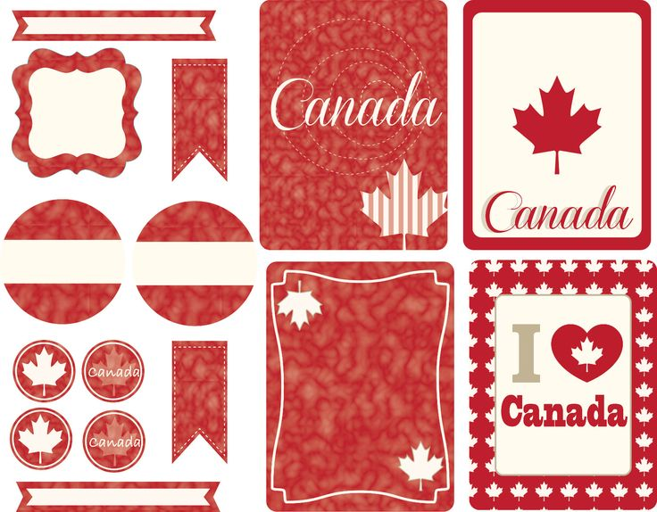 "Free Canada's day cards for journaling or project life cards - Gratis tarjetas para project life o journaling para festejar el Día de Canadá. Big Circle ( 2""- 5 cm) , -ek- paper punche, ek perforadora."