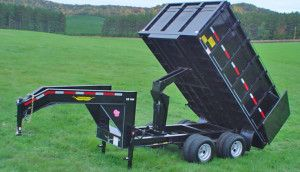 Dump trailer rental have a box structure on them that can haul up to 5,000 pounds of weight. Given their use, these trailers have a deep cubic height which allows them to carry even more material at one time.