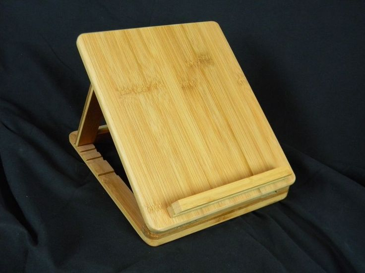 "Bamboo Tablet iPad Reader Stand Adjustable Angle All Natural 11"" x 9"" New in Box #GreatGatherings"