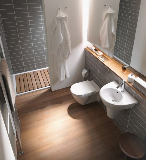 Duravit small bathrooms | Img @ Saniguide. http://www.saniguide.eu/duravit-small-bathrooms