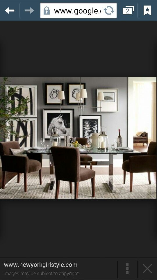 Dining with big photo frames