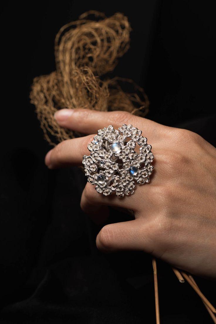 Achillea ring. Silver  #ring #jewellery #silver