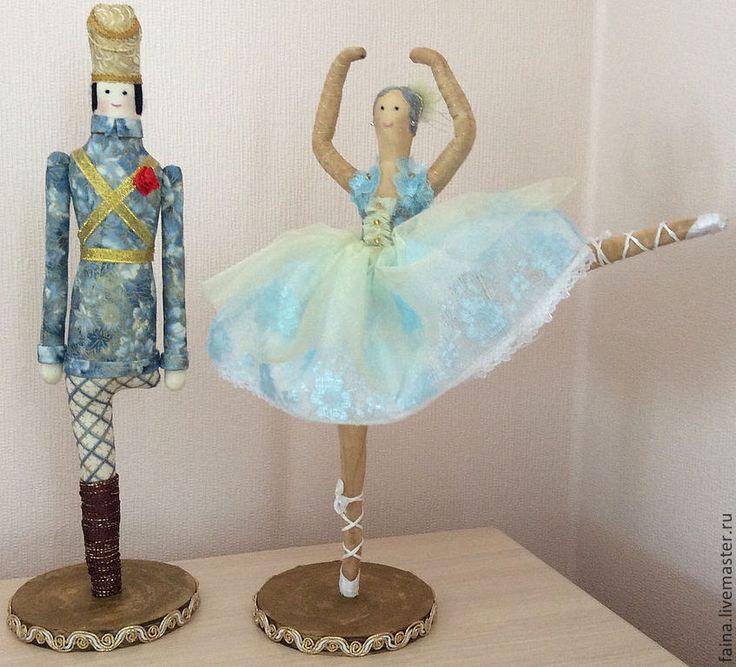 Оловянный солдатик и балерина: текстильные куклы для интерьера, сказочные персонажи, ручная работа,  сделано своими руками