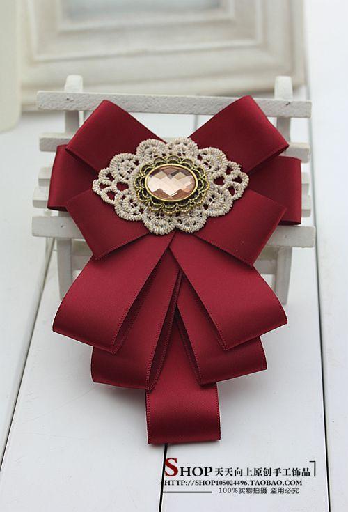 Korean dasi kupu-kupu dibedakan Lesbian pernikahan gaun jas dasi - kelas host Inggris dasi kupu-kupu bros(China (Mainland))