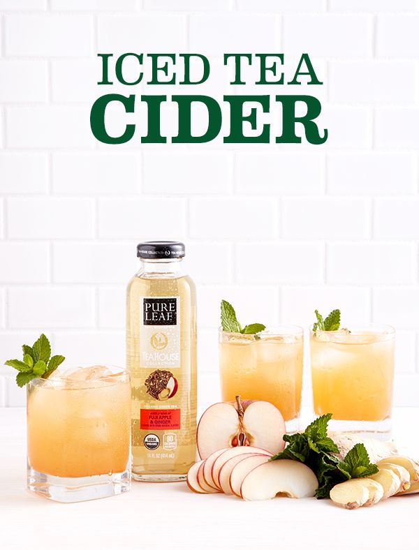 Add a refreshing twist to the classic fall cider by adding Organic Green Tea with Fuji Apple and Ginger from the Pure Leaf Tea House Collection to ginger and mint! Take 3 oz. apple cider, add 5 oz. Iced Tea, ¼ oz. ginger syrup, and serve over ice with a mint garnish!
