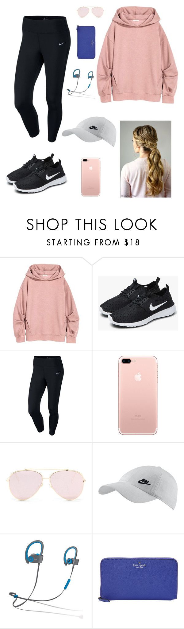 Untitled #98 by gabriellaallen on Polyvore featuring NIKE, Kate Spade and Beats by Dr. Dre