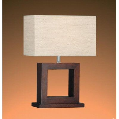 Square Table Lamp Wit Box Shade TL81284