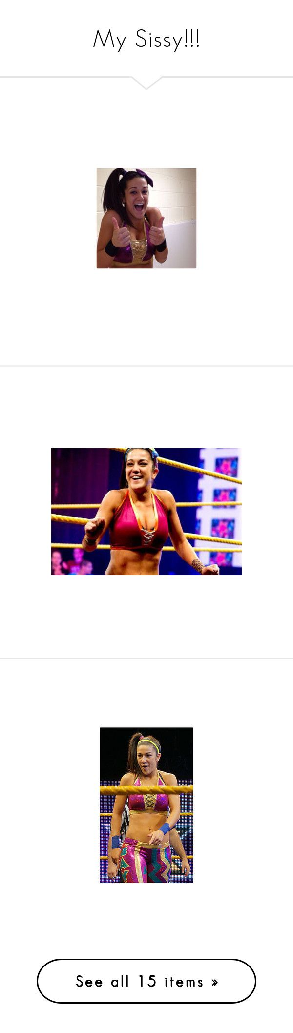 """""""My Sissy!!!"""" by imblissedoff ❤ liked on Polyvore featuring bayley, nxt guys and girls, wwe, home, home decor and divas"""