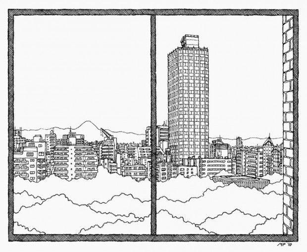 L'altro Pericoli: Matteo disegna le finestre dei grandi scrittori - Milano - Repubblica.it #grafica #illustrazione #disegno