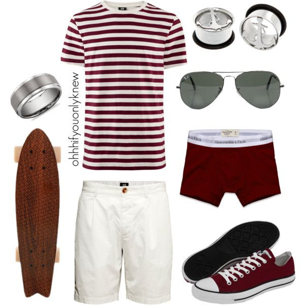 Untitled #170 by ohhhifyouonlyknew on Polyvore featuring moda, H&M, Abercrombie & Fitch, Converse, Ray-Ban and Blue Nile