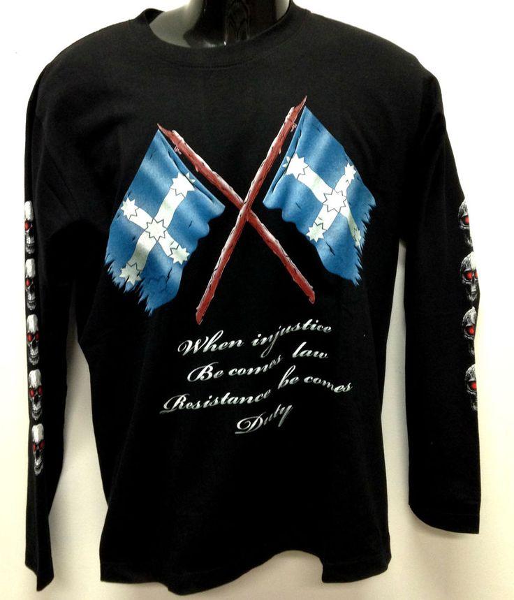 EUREKA-Stockade Flag on front of a black T-shirt size XL  $25