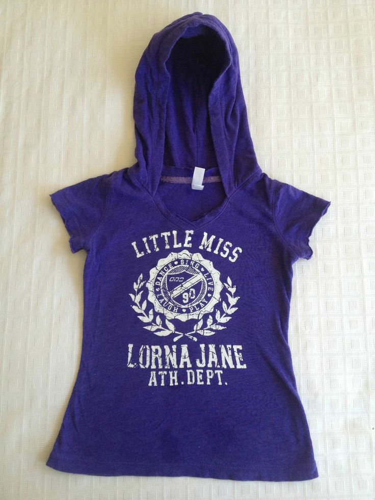 Girls Little Miss Lorna Jane Purple Hoodie Top - Size 6 - Now Selling! Click through to go to eBay auction.