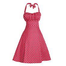 Высокое Качество Лето Женщины Холтер Платье Vestidos Ретро 1950 s 60 s Vintage Платье Сексуальная Горошек Рокабилли Торжеств и Вечеринок платья(China (Mainland))