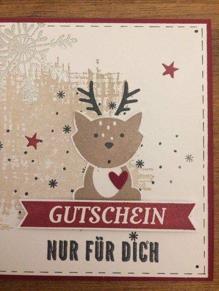 … IST GUTSCHEIN-VERSCHENKE-ZEIT … zum Beispiel für tolle Stempelsachen oder einen kreativen Workshop :) Also ich bin bereit. Das ist mein diesjähriger Weihnachtsgutschein für alle die …