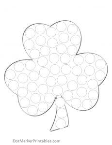 St. Patrick's Day Shamrock (and best dot marker printable site I've found!)