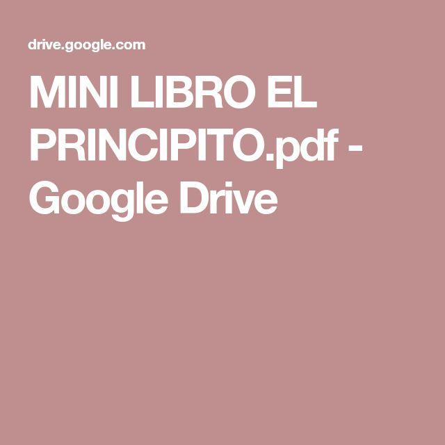 MINI LIBRO EL PRINCIPITO.pdf - Google Drive