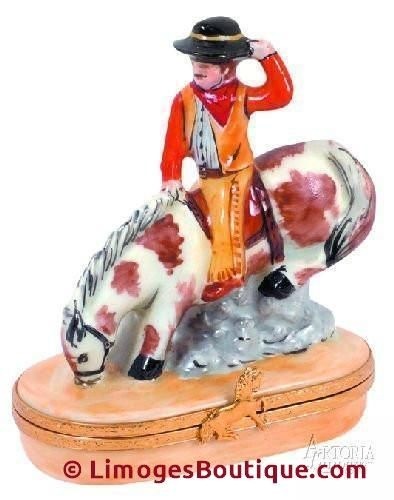 Bucking Bronco Cowboy Limoges Boxes