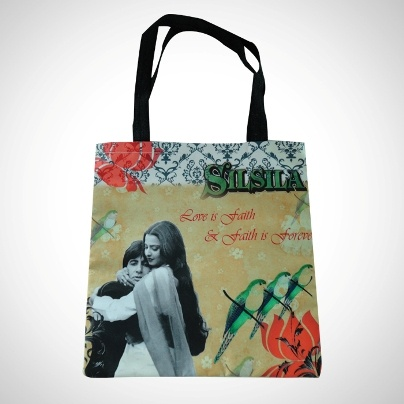 Casual Shopping Bag 'Silsila' Imprint  Now At Rs. 375.00