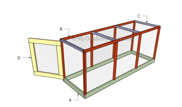 Chicken coop run plans free outdoor plans diy shed for Chicken run plans