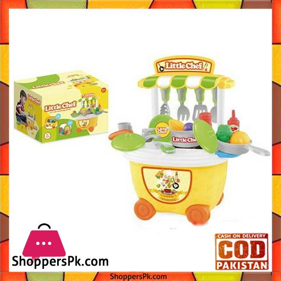 Kids Pretend Play Little Chef Kitchen Toys Set 29 Pcs Shopperspk