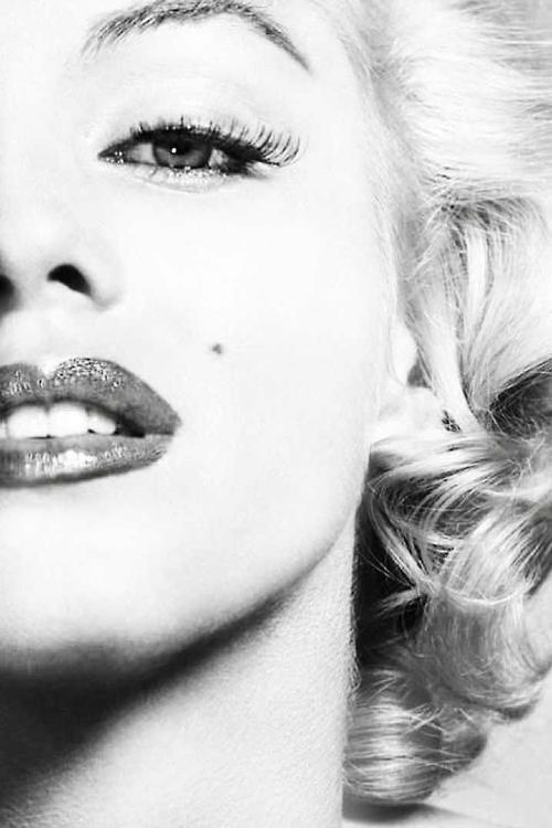 theniftyfifties:  Marilyn Monroe I normally don't pin or blog pictures showing off only one eye for personal reasons but this one is a very sexy one of her face. ♥