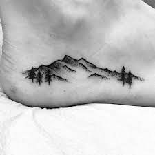 Image Image for mens side tattoo mountain