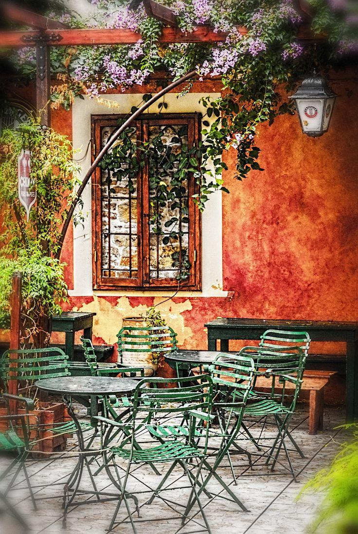 Cafe in Corfu Town, Corfu, Greece