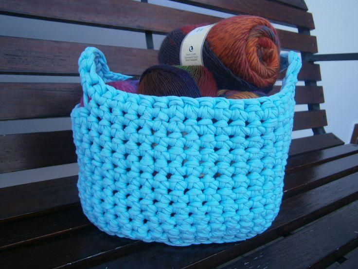 Crochet basket, kosz, koszyk, szydełko, szydło